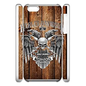 Protection Cover iphone5c 3D Cell Phone Case White Harley Davidson Qbdgp Personalized Durable Cases