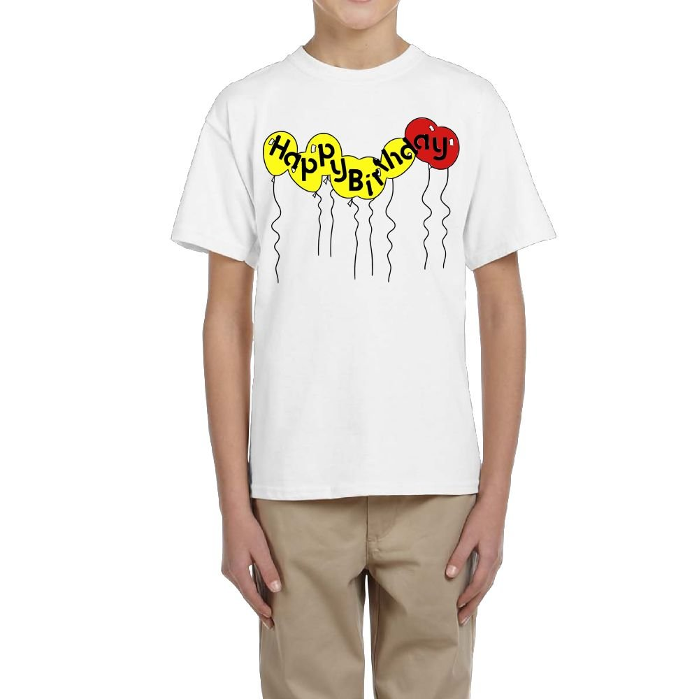 Fzjy Wnx Short-Sleeve Shirt Youth Crew Happy Birthday for Boys
