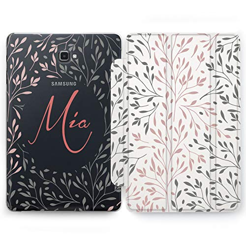 Wonder Wild Bush Wretch Samsung Galaxy Tab S4 S2 S3 A E Smart Stand 2015 2016 2017 2018 Tablet Cover 8 9.6 9.7 10 10.1 10.5 Inch Clear Design Cute Simple Individual Initials Minimalist Botany Nature ()