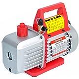 "4.5CFM Single-Stage Rotary Vane Vacuum Pump (4.5CFM, 150 Miron, 1/3HP, 1/4""Flare 1/2""Acme Inlet) for HVAC/Auto AC Refrigerant Recharging, Wine Degassing, Milking, Medical, Food Processing etc."