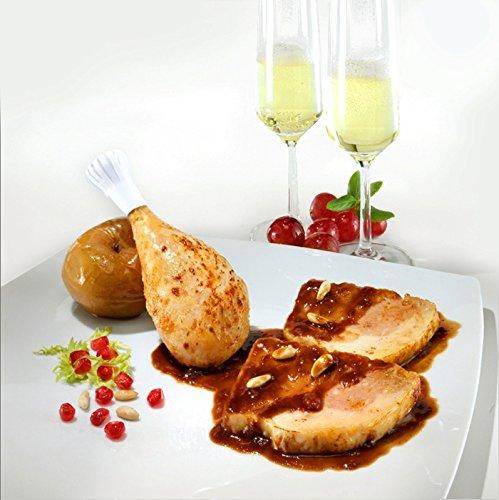CASCAJARES - Medio Capón relleno de Foie, Orejones de Albaricoque y Piñones. Capón relleno de 1,25 kilos y medio litro de salsa de albaricoque, ...