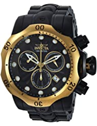 Invicta Mens Venom Quartz Stainless Steel Casual Watch, Color:Black (Model: 23895)