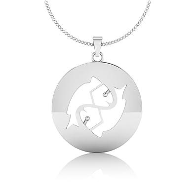 Buy IskiUski Pisces Zodiac Meen Rashi Horoscope 925 Sterling