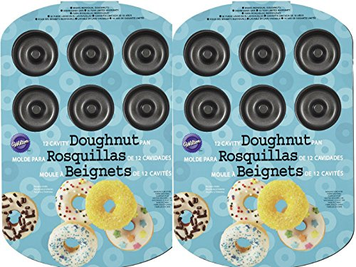Wilton 2105-2390 12-Cavity Donut Pan (2 Pack)