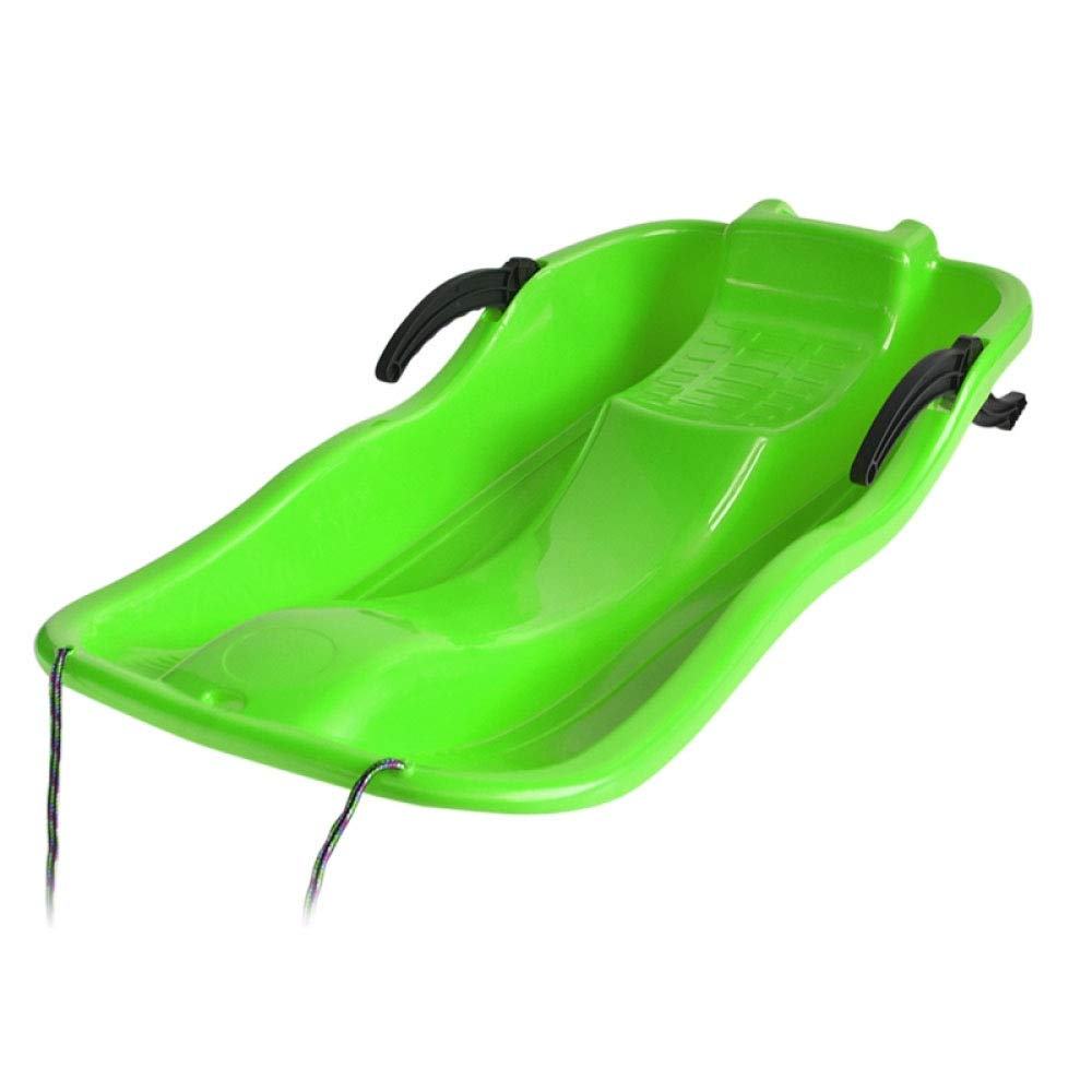Winter Sledge Sled Toboggan Sleigh Snow Racer Winter 67-87cm Snowboard Sand Board Brake Thickened Sled Outdoor Sand Grass,Green-87CM by GAOYY