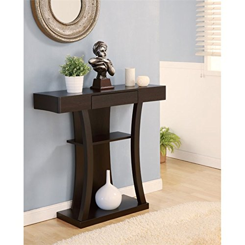 BOWERY HILL Console Table in Cappuccino