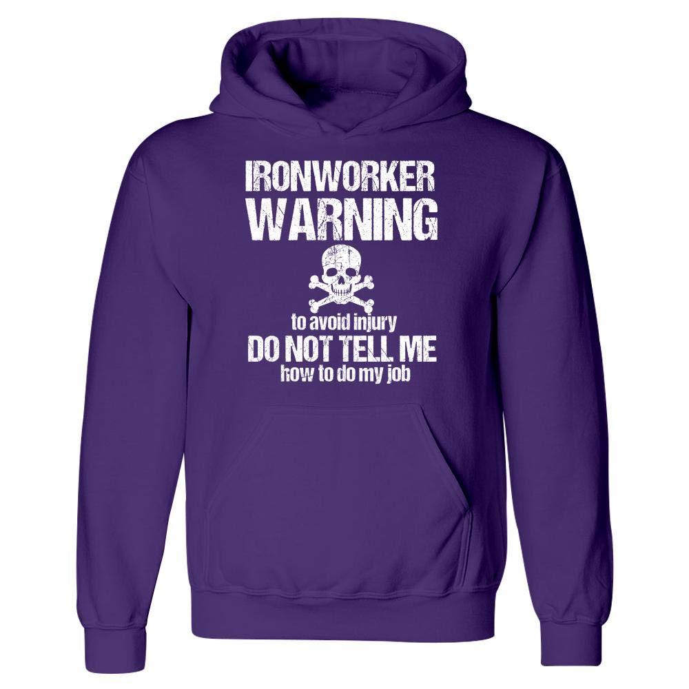 Hoodie MESS Warning to Avoid Injury Ironworker