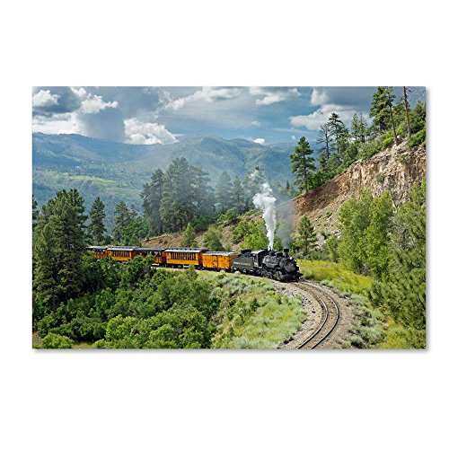 The Train, From Bridge by Mike Jones Photo, 22x32-Inch Canvas Wall -