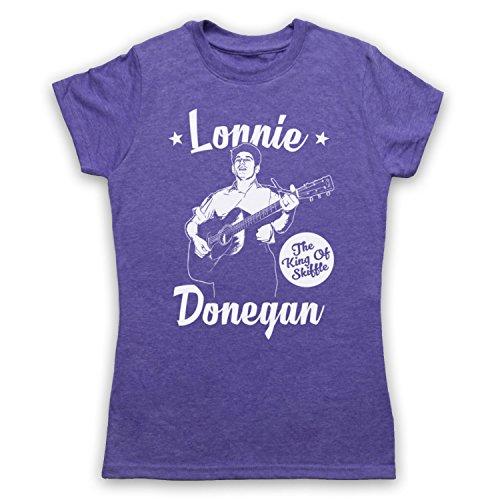 Lonnie Donegan The King Of Skiffle Camiseta para Mujer Morado Clásico