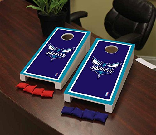 Victory Tailgate Charlotte Hornets NBA Basketball Desktop Cornhole Game Set Border Version by Victory Tailgate