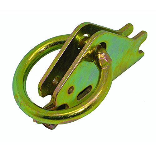 10 PACK Steel ETrack 1.5'' O Ring Tie-Down Anchors For E-TRACK Tiedown System, Yellow Chrome, Capacity:4000 lbs.Great for Securing Cargo in Enclosed/Flatbed Trailers, Trucks (ETrack Rails Not Included)
