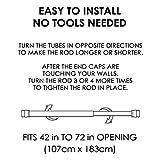 "BINO 'Doric' Shower Curtain Tension Rod, Brushed Nickel - 42"" to 72"""
