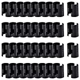 WAFJAMF 36 Pairs 72 Pack Wire Shelving Shelf Lock Clips for 1' Post- Shelving Sleeves Replacements for Wire Shelving System