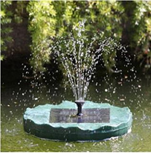 Outdoor Solar Powered Flating Lily Flower Water fountain by Onlinez Trading