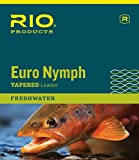 Rio Fly Fishing Euro Nymph with Tippet Ring Fishing Leaders, Clear