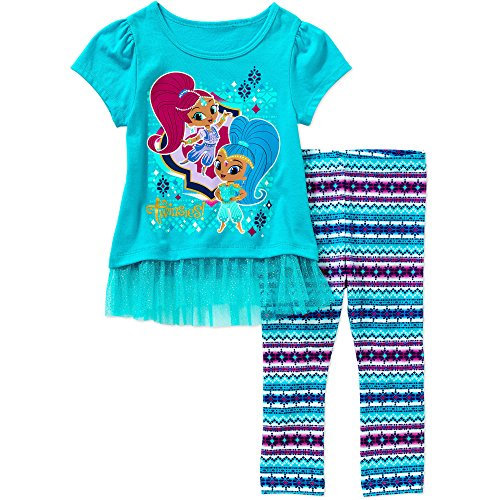 Nickelodeon Shimmer and Shine Toddler Tunic with Leggings Outfit (2T)