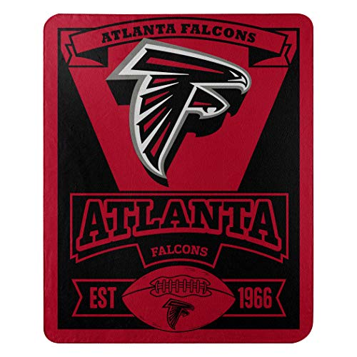The Northwest Company NFL Atlanta Falcons Marque Printed Fleece Throw, 50-inch by 60-inch, Red