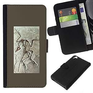 All Phone Most Case / Oferta Especial Cáscara Funda de cuero Monedero Cubierta de proteccion Caso / Wallet Case for HTC Desire 820 // Biology Paleontology Fossil