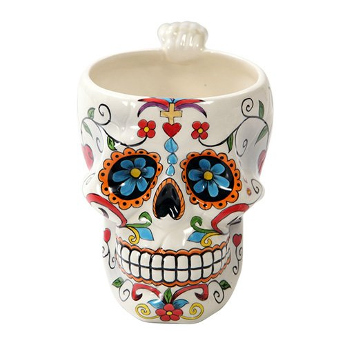 Pacific Giftware Colorful Day Of The Dead Skull