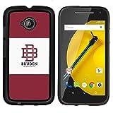 # Cellphone Hard Case PC Protective Cover Shell Case forMotorola Moto E ( 2nd Generation ) # university brand maroon logo student # Gift Phone Case Housing #