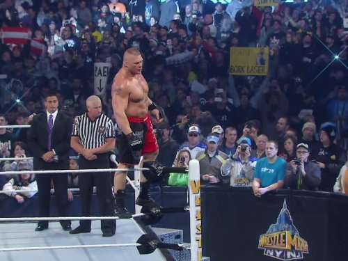 No Holds Barred Match - If Triple H Loses He Must Retire Brock Lesnar Vs. Triple H