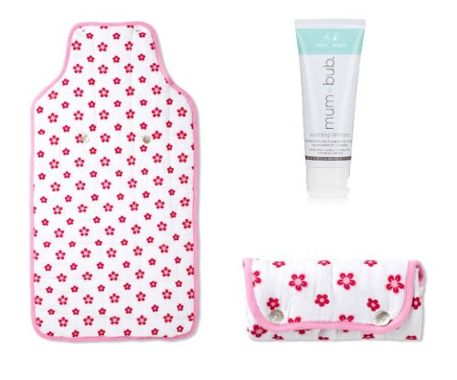 aden + anais Portable Travel Baby Changing Pad & Ointment, Princess Posie