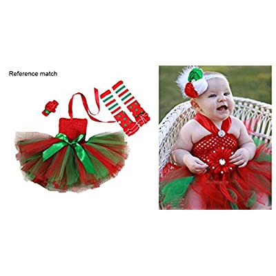 Tutu Dreams 3pcs Christmas Costume for Girls Tutu Dress with Headwear and Leggings: Clothing