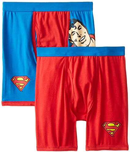 Intimo Little Boys' DC Comics- 2 Pack Classic Superman Boxer Brief, Multi, 6