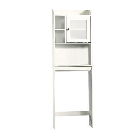 Amazon.com: Sauder Caraway Etagere Bath Cabinet, Soft White ...