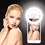 Photo : Selfie Ring Light For iPhone & Phone, UBeesize Clip on Led Camera Light [3-Level Brightness] [Rechargeable Battery] For Smartphones