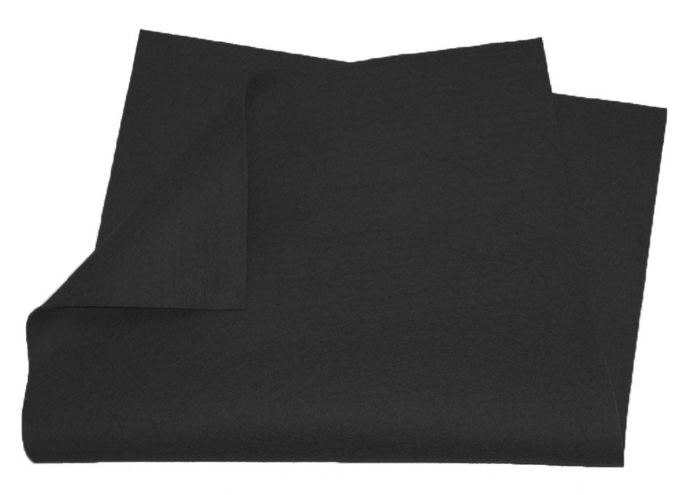 "100% Merino Wool Craft Felt - 8"" x 12"" sheet - BLACK Weir Crafts 457-blac"