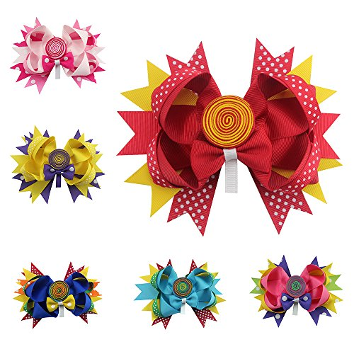 Sacarla Lollipop Boutique Hair Bows for Little Girls Fashion Design - Lollipop Hair Bows