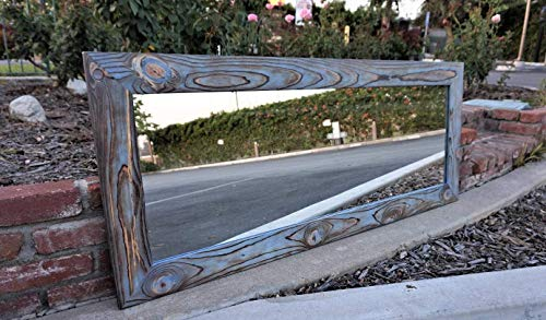 Reclaimed Wood Framed Mirror made by Muller-Designs Available in 9 Sizes and -