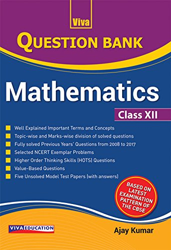 Read Online Question Bank for Mathematics 2018, Class XII pdf epub