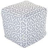 Majestic Home Goods Aruba Indoor / Outdoor Bean Bag Ottoman Pouf Cube, 17