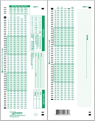 Apperson 20260 882-E Compatible Answer Sheet 1,000-pack by Apperson