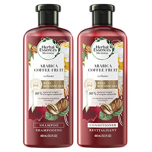 Herbal Essences, Shampoo (13.5 Fl Oz) and Paraben and Paraben Free Conditioner (13.5 Fl Oz) Kit, BioRenew Arabica Coffee Fruit, 1 Set