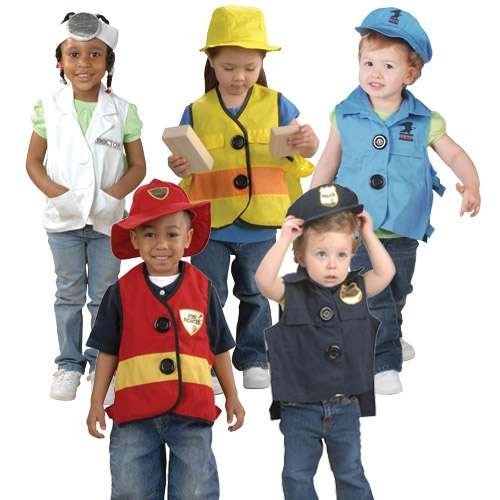 [Constructive Playthings JOL-5 Toddler Dress-Up Vests & Hats - Costume Accessories] (Hat Costumes Accessory)