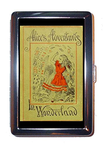 Alice's Adventures in Wonderland 1898 Book Cover Stainless Steel ID or Cigarettes Case (King Size or 100mm)
