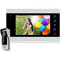 【Promotion】Bcomtech 7 Inch Intercom Door Station with Door Release Door Bell Camera Door Phone Intercom System 1V1 1200TVL HD Night Vision Home House Security