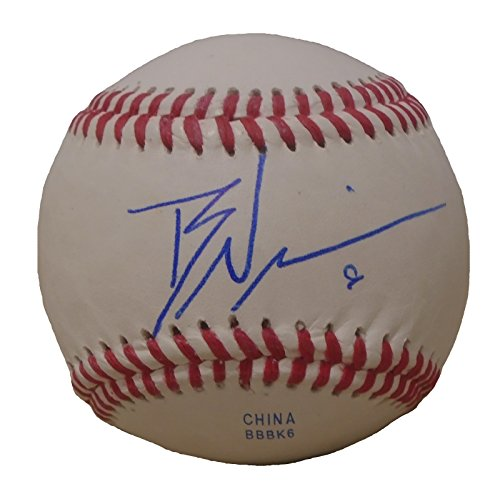 Texas Rangers Brett Nicholas Autographed Hand Signed Baseball with Proof Photo of Signing and COA