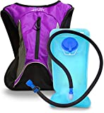 Aduro Sport 1.5L Hydration Backpack Hydro-Pro, BPA Free Water Bladder. Unisex, Water Resistant, Durable, Light Weight, One Size Fits All. Great for Hiking, Running, Biking, Camping, Outdoors (Purple)