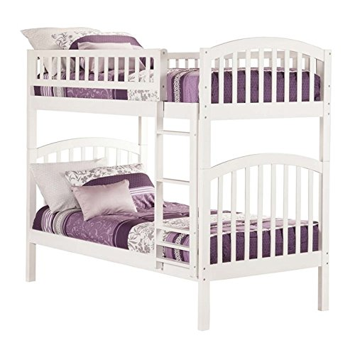 Richland Bunk Bed, Twin Over Twin, White