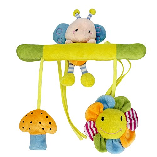 Bed Crib Cot Pram Hang Bell Stroller Hanging Wind Chimes Pendant for Baby Infant Toddler,Sealive Cute Stuffed Animal Plush Toy Hanging Toys Doll Rattle for Kid Children Gift Birthday Gift