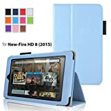 Case for Fire HD 8 - Premium Folio Case with Stand for the 6th Gen Fire HD 8 with 8 Display