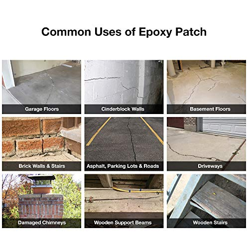 3 Part EPOXY Mortar Patching System - Contains Resin, Hardener & Aggregate   Fills Cracks, Holes, Pits & More! Bonds to Concrete, Asphalt, Wood &
