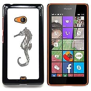 Stuss Case / Funda Carcasa protectora - Art dessin au crayon graphique - Nokia Lumia 540
