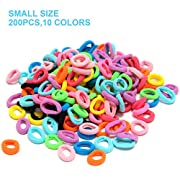 HBY 200 PCS Elastic Hair Bands Ties Girl, Small Size Rubber Band Ponytail Holders
