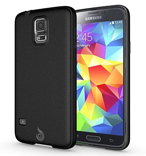 Galaxy S5 Case, Diztronic Matte Back Flexible TPU Case [Rev. 2] for Samsung Galaxy S5 - Matte Black - (GS5-DM-BLK-R)