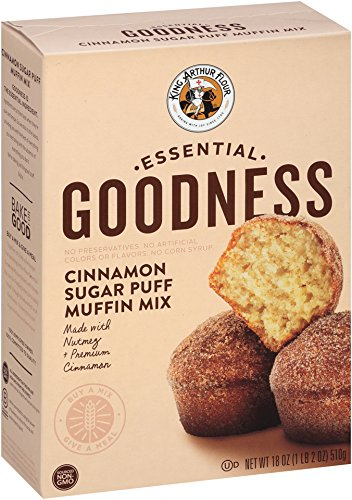 King Arthur Flour Essential Goodness Mix, Cinnamon Sugar Puff Muffin, 18 Ounce (Pack of (Cinnamon Sugar Mix)